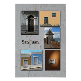 Old San Juan Photo Collage Poster