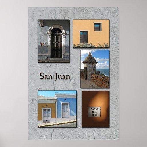 Old San Juan Photo Collage Poster