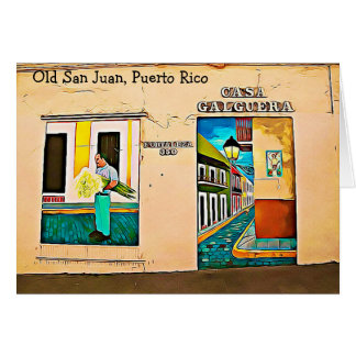 Old San Juan, Puerto Rico Christmas card