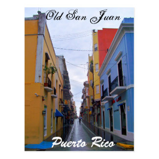 Old San Juan Puerto Rico Postcard Colorful Houses