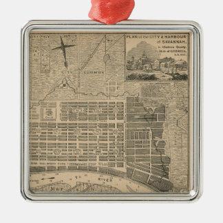 Old Savannah Map Ornament