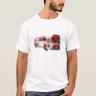 Old School 3D AC Transit Bus t-shirt