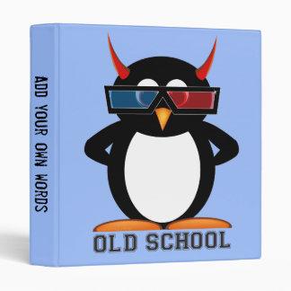 Old School 3D, Evil Penguin, Back to School, 3 Ring Binder