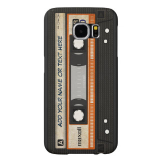 Old School 80s DJ Music Cassette Tape Pattern Samsung Galaxy S6 Cases