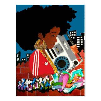 Old School Afro Girl Postcard