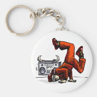Old-school Badge Key Chain