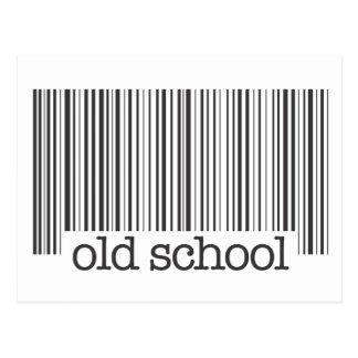 Old School Barcode Postcard