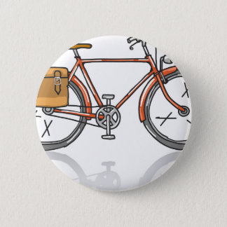 Old School Bicycle Sketch 2 Inch Round Button
