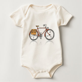 Old School Bicycle Sketch Baby Bodysuit
