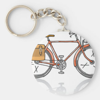 Old School Bicycle Sketch Keychain