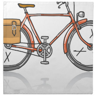 Old School Bicycle Sketch Napkin