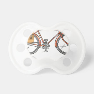 Old School Bicycle Sketch Pacifier