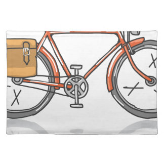 Old School Bicycle Sketch Placemat