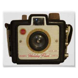 Old school Brownie camera Poster