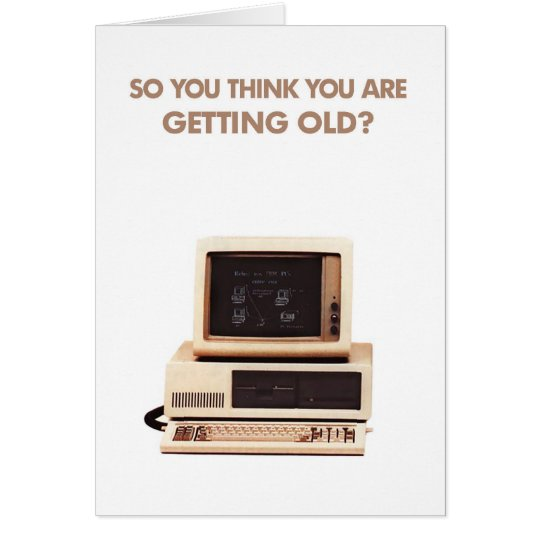 old school card birthday card
