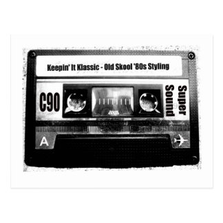 Old School Cassette Postcard
