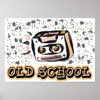Old School cassette Poster