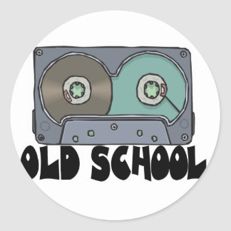 old school cassette tape classic round sticker