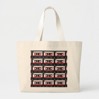 Old school cassette Tape Large Tote Bag