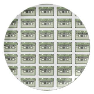 Old school cassette Tape Plate