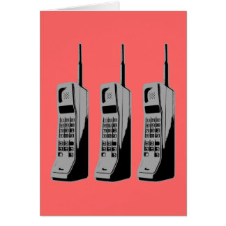 Old School Cell Phones Greeting Card