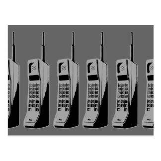 Old School Cell Phones Postcard