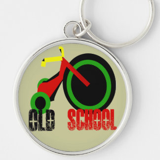 Old School - Change background colors Keychain