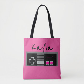 Old School - Classic Controller - PINK Custom Tote Bag