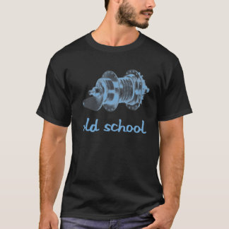 Old School Coaster Hub (Black & Blue) T-Shirt