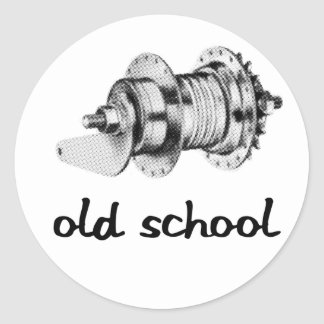 Old School Coaster Hub Sticker