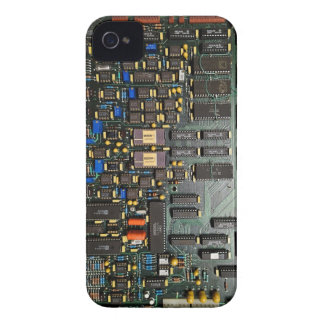 Old school computer circuit board look iPhone 4 Case-Mate case
