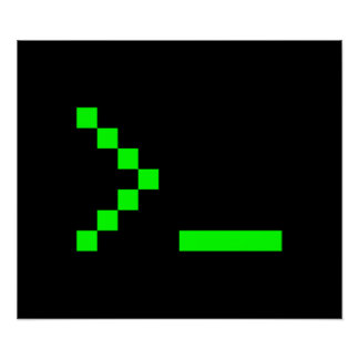 Old School Computer Text Input Prompt Poster