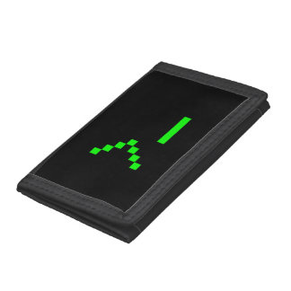 Old School Computer Text Input Prompt Trifold Wallets