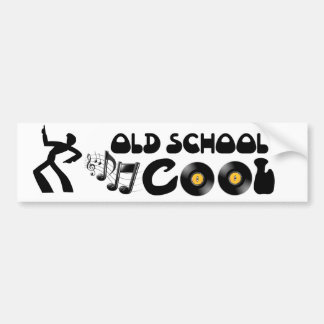 Old School Cool - Vinyl Records and Good Music Bumper Sticker