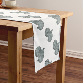 Old School Diving Helmet Drawing Short Table Runner