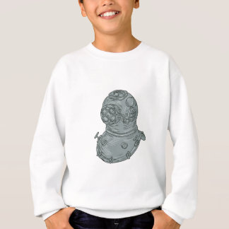 Old School Diving Helmet Drawing Sweatshirt