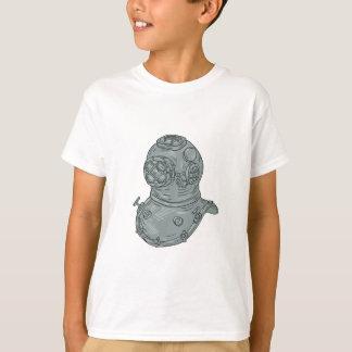 Old School Diving Helmet Drawing T-Shirt
