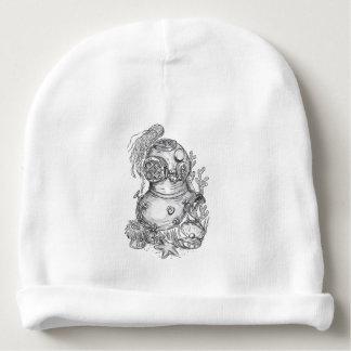 Old School Diving Helmet Tattoo Baby Beanie