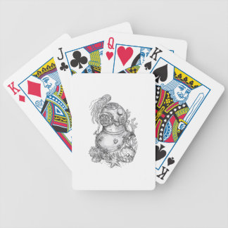 Old School Diving Helmet Tattoo Bicycle Playing Cards