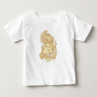 Old School Diving Helmet Underwater Drawing Baby T-Shirt
