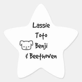 Old School Dog Heroes Star Sticker