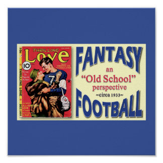 Old School Fantasy Football Poster