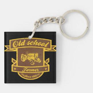 Old school farmer acrylic key chains
