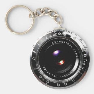 Old School Film Camera Basic Round Button Keychain