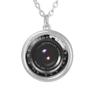 Old School Film Camera Silver Plated Necklace