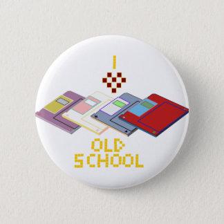 old school floppy 2 inch round button