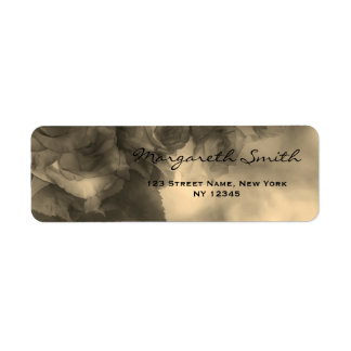Old School Floral Black and White Address Lable