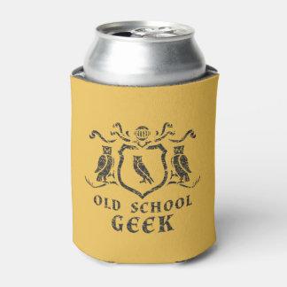 Old School Geek Owl Can Cooler