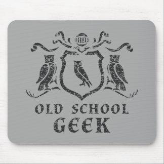 Old School Geek Owl Mousepad