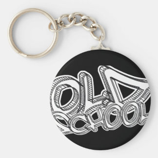 Old School graffiti Basic Round Button Keychain